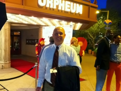 Coach Herb Sendek getting ready to walk the red carpet.