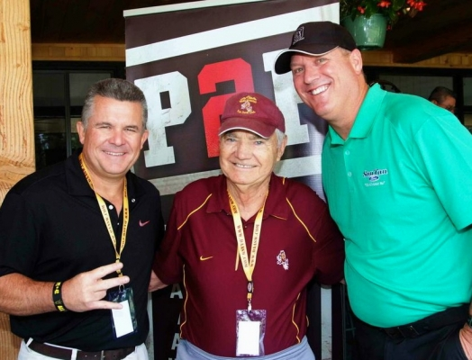 Coach Todd Graham, Frank Kush and Brad Cesmat of Props2Preps
