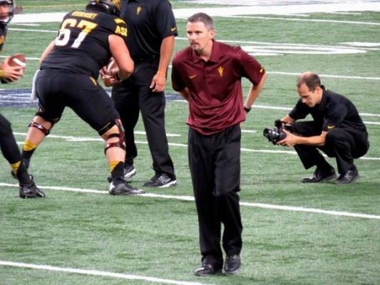 ASU Head Coach Todd Graham's Offensive Coordinator, Mike Norvell