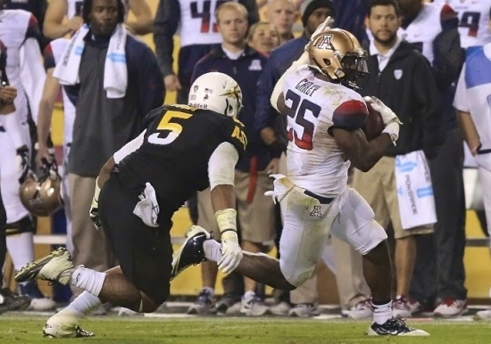 ASU's Chris Young attacks UA RB Ca'Deem Carey