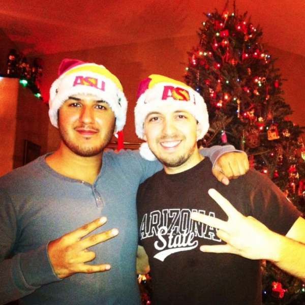 Sun Devil fans, Isaac David and Cole Streeper