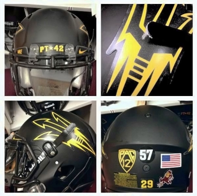 Blackout helmets designed by Sun Devil Equipment