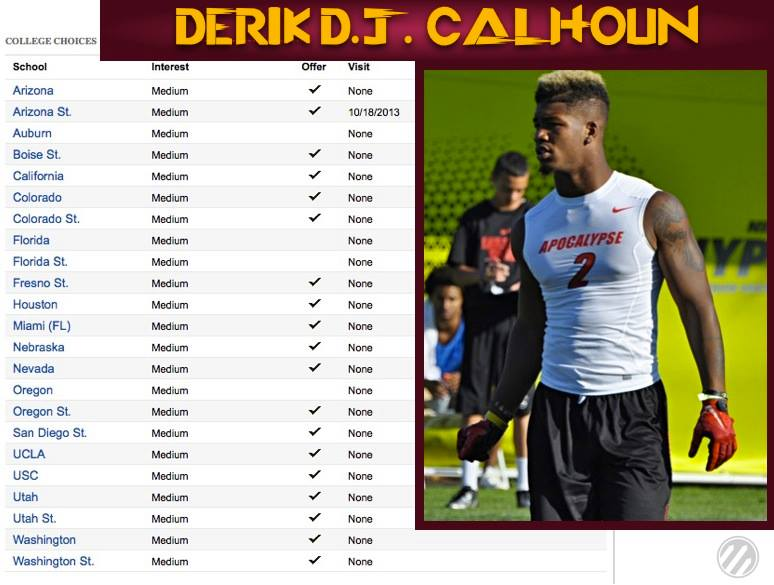 D.J. Calhoun will wear Maroon & Gold