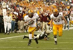 Sun Devil #3, Rudy Burgess, with the winning score with 44 seconds left on the clock