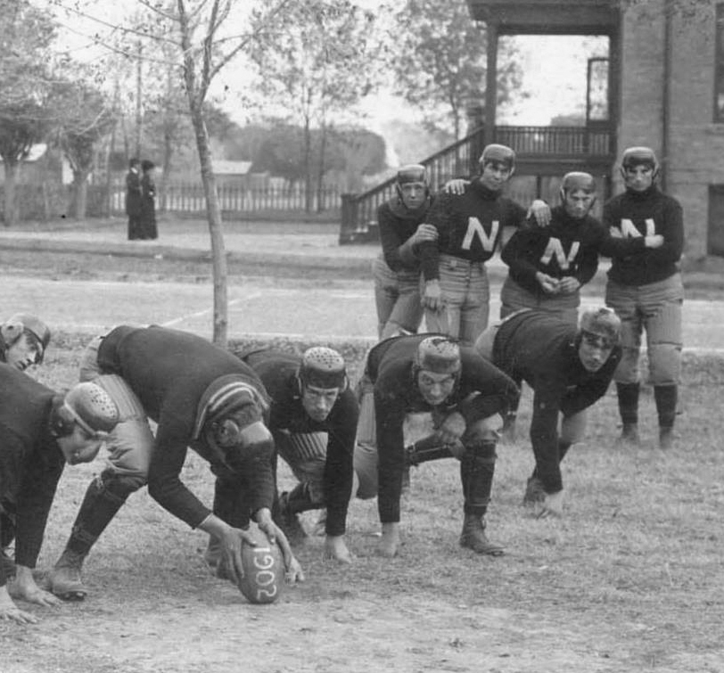 1902 Football practice at Tempe Normal School (ASU), Tempe, Arizona