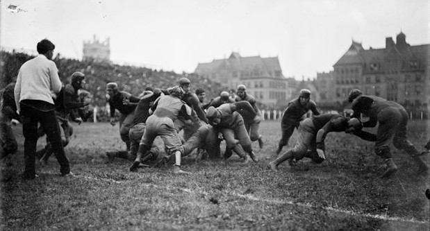 Wisconsin vs Michigan in the 1902 College Football National Championship
