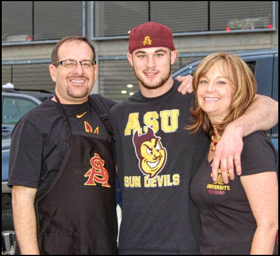 Brian Cea, nephew Derek Weske and wife, Debbie Olson-Cea
