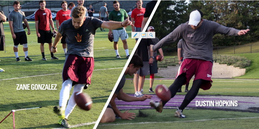 Kohl's Kicking: Zane Gonzalez (#ASU) on the heels of Dustin Hopkins for most FGs and points scored in NCAA history. #KohlsELITE